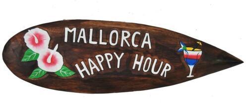 Décoration Planche de Surf Majorque Happy Hour 60 cm Baléares planche de surf pour accrocher Lounge