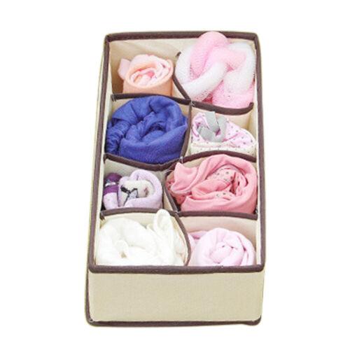 Closet Organizer Box Underwear Bra Socks Ties Scarves Storage Drawer Divider