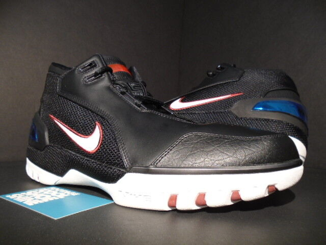 info for ba165 14ce4 2004 NIKE AIR ZOOM GENERATION LEBRON JAMES Noir blanc CRIMSON rouge  308214-011 10