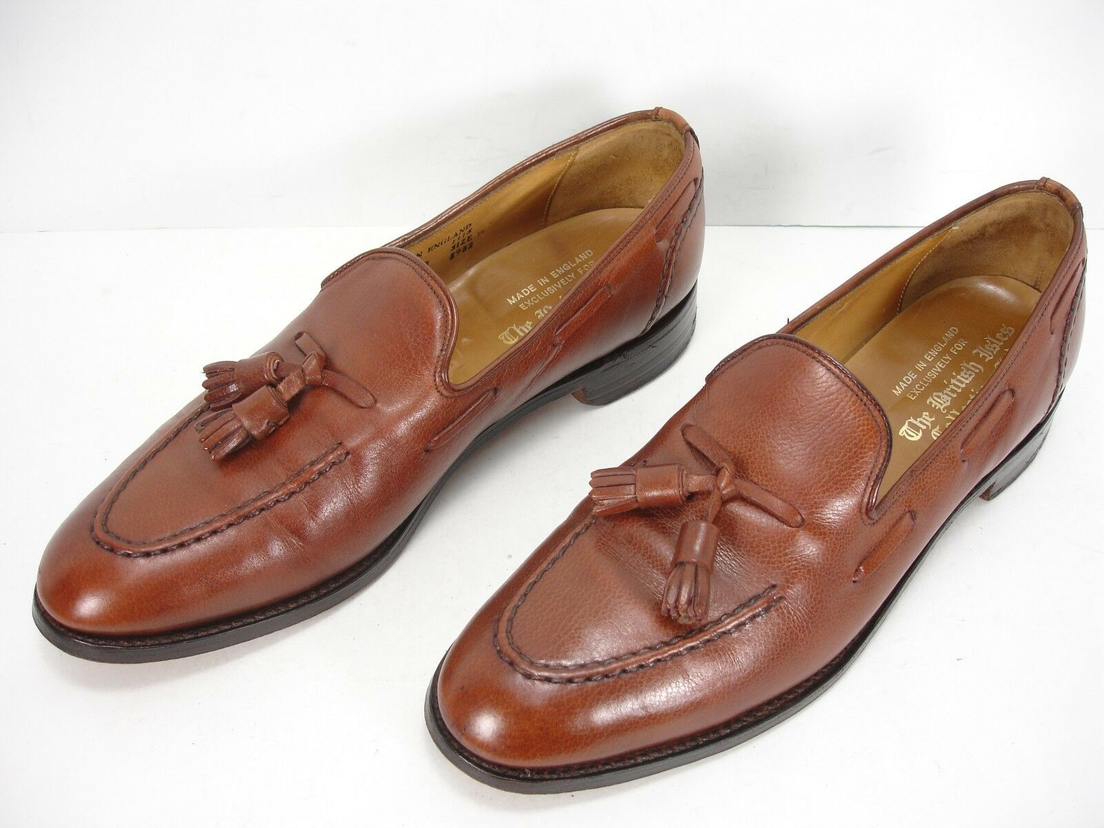 THE BRITISH ISLES COLLECTION LTD LEATHER TASSEL LOAFERS DRESS SHOES MEN'S 10 B