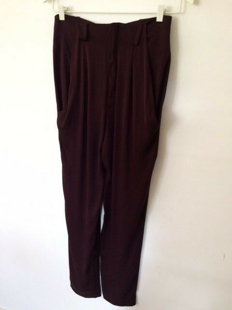 Dress Up Up Up boho style silk mix flowy bohemian trousers UK8 Perfect condition c5640e