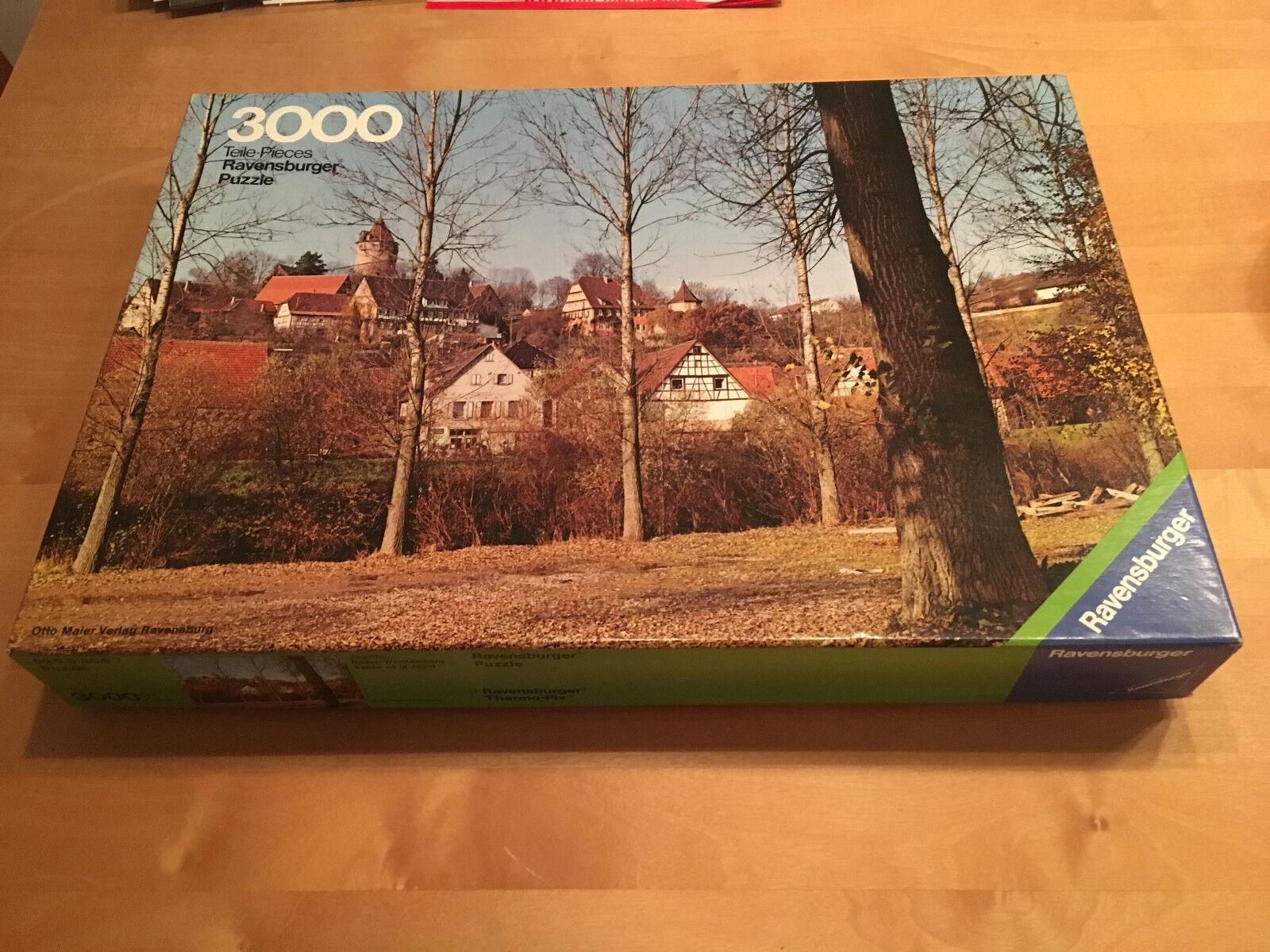 Ravensburger Puzzle 3000 Teile  - Jagsttal Baden-Württemberg sehr selten  | Modern