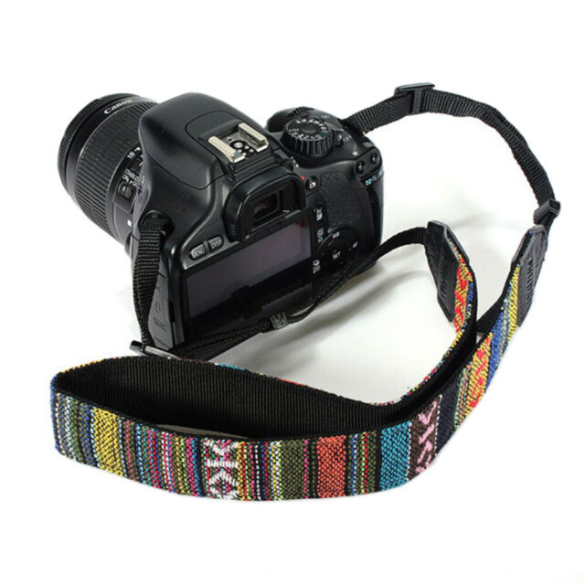 Vintage SLR DSLR Camera Shoulder Neck Strap Belt for Sony Canon Nikon Pentax UK