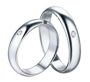 Fedine-Fidanzamento-Uomo-Donna-Argento-925-Cristallo-Coppia-Anelli-Fede-Nuziale