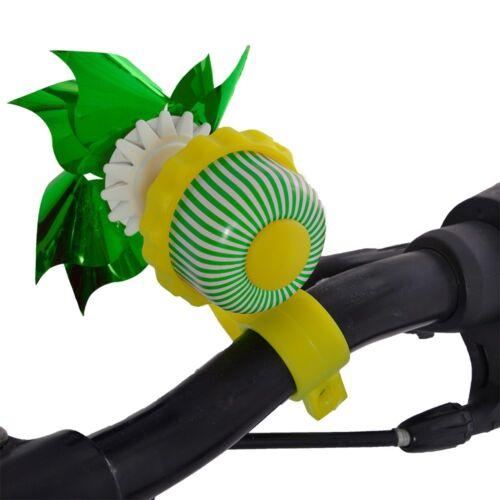 Oxford Spinning Windmill Childrens Kids Bike Handlebar Bell Twist Bell 4 Colours