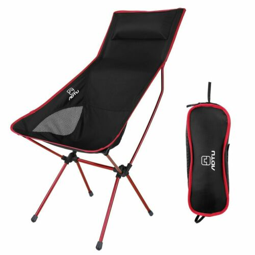Super Lightweight Folding Camping Chair With Pillow Portable Compact for Outdoor