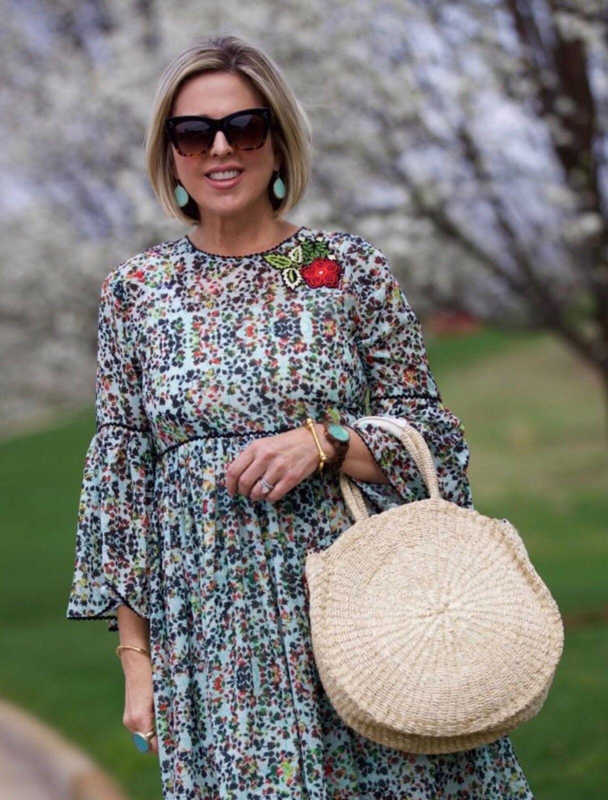 NEW Anthropologie Libra Embroiderot Tunic Dress Größe 0 Jyoti