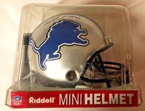 Detroit-Lions-NFL-Riddell-Mini-Helmet-Ndamukong-Suh-90-Autographed-amp-COA