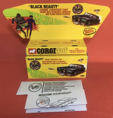 Corgi 268 The Green Hornet Black Beauty Empty Inner /& Outer repro box instctns