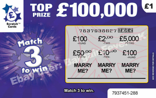 Will you MARRY ME Scratch Card Unique Wedding Marriage Proposal Valentines