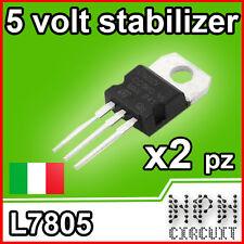 2X 7805 Regolatore Tensione 5V L7805CV LM7805 1.5A TO-220 Stabilizzatore