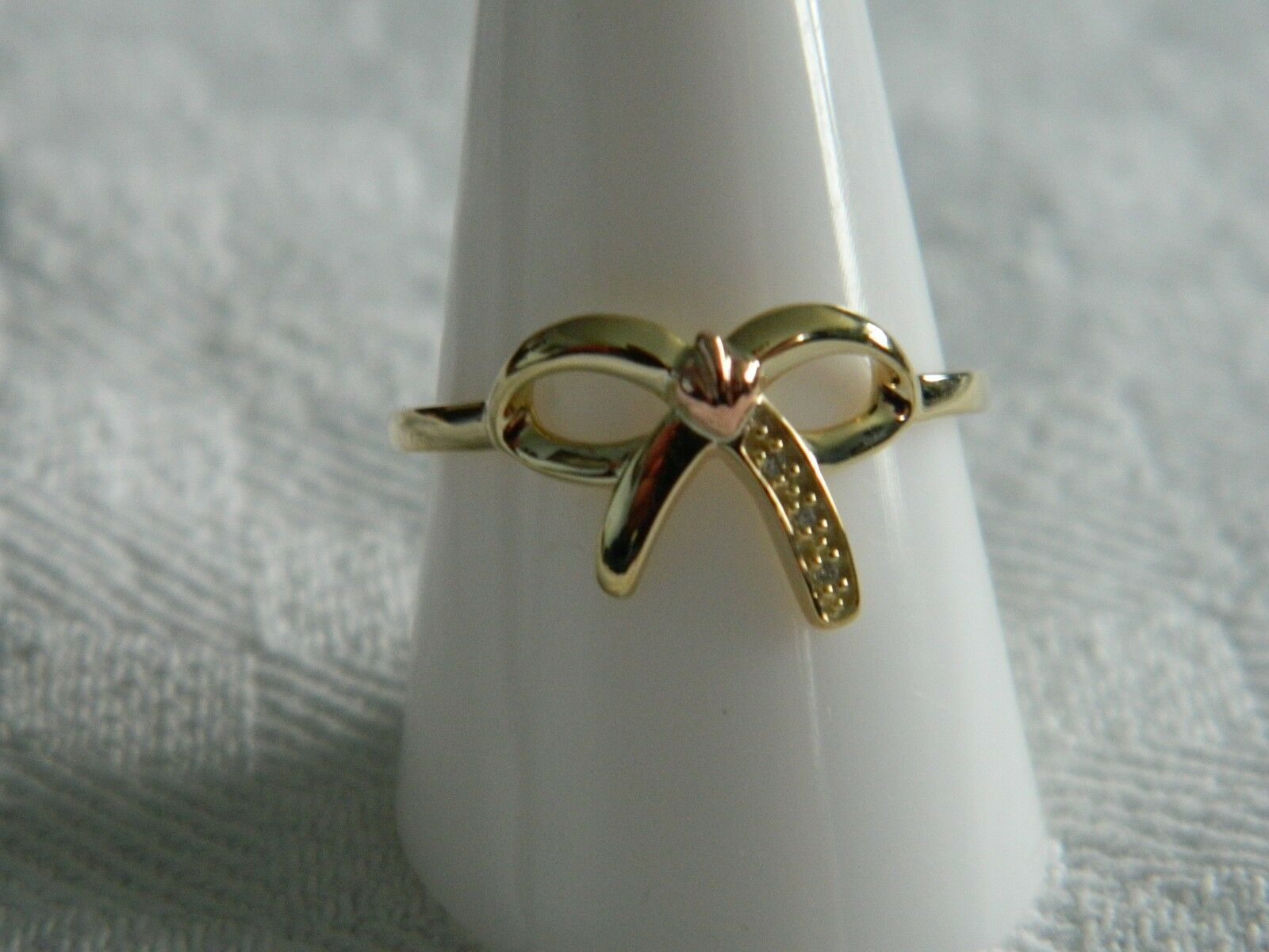 Clogau 9ct Welsh gold Diamond Tree of Life Bow Ring size N RRP .00