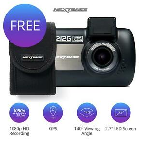 Nextbase 212G Car Dash Cam Front Free Carry Case Camera Recorder 1080p