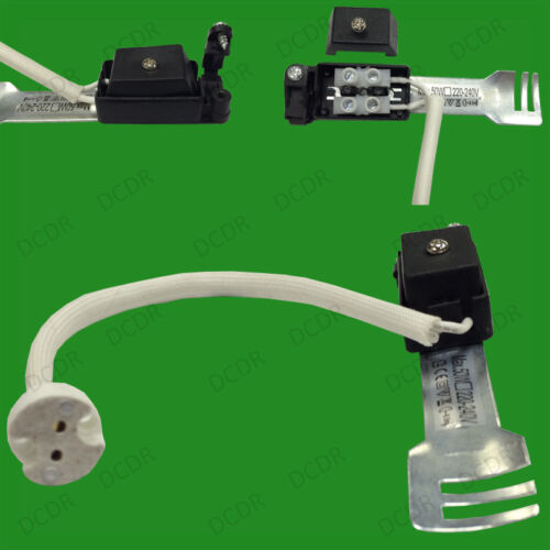 MR16 Céramique Prise Chaleur Résistant Flex Support Lampe /& Pont,Neuf Ru Réglage