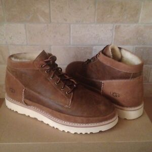 2d45555ebae Details about UGG CAMPFIRE TRAIL BOOTS SHOES CHESTNUT BOMBER SHEEPSKIN SIZE  US 11 MENS