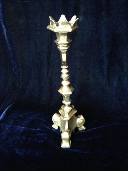 1-flammiger Kerzenständer Massiv, Versilbert
