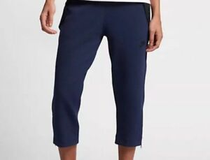 Nike-Women-039-s-Tech-Pack-Fleece-Sneaker-3-4-Pants-Blue-Black-Medium-831711-429