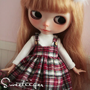 Tii-shirt-dress-outfit-12-034-1-6-doll-Blythe-Pullip-azone-Clothes-Handmade-girl