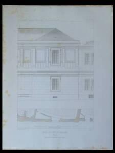 PARIS, ECOLE PONTS ET CHAUSSEES - 1847 - 3 GRAVURES - 13 RUE DU PRE AUX CLERCS - France - Thme: Architecture Période: XIXme et avant - France