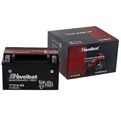 NOVELBAT YTX7A-BS Motorradbatterie | 12V 6Ah 85A/EN | NEU | Motorrad Batterie