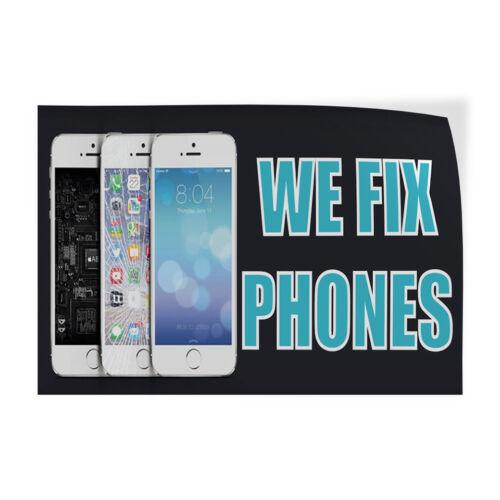 We Fix Phones #5 Indoor Store Sign Vinyl Decal Sticker