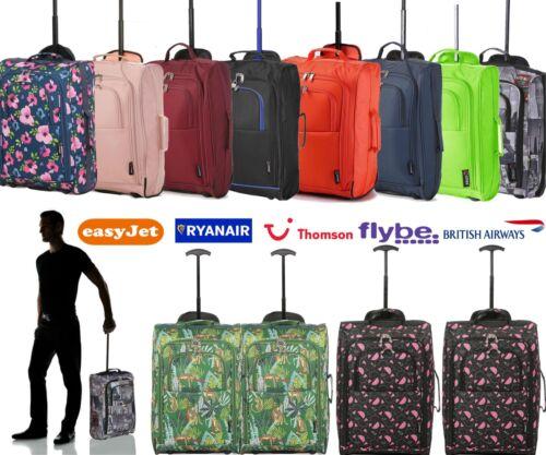 Ryanair approuvé Léger 55x35x20cm à Roulettes Bagage Main Cabine Sac Set