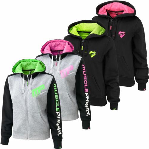 MusclePharm Womens Full Zip Hoodie Ladies Gym Tracksuit Fitness Top 52/% OFF RRP
