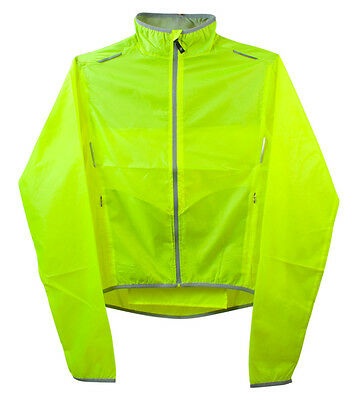 ATD Tall Cycling Windbreaker Jacket High Visibility Yellow Water Resistant