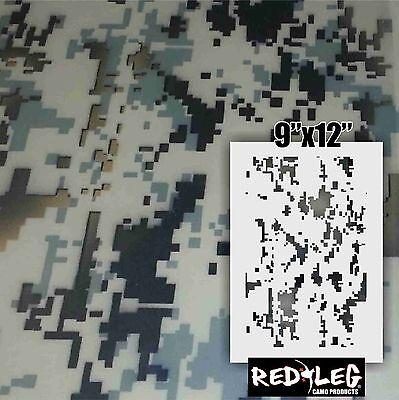 Redleg Camo digital camouflage stencil kit **2 included** cerakote durakote
