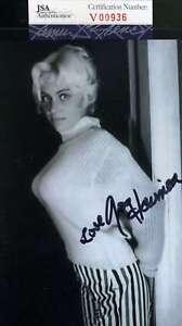 Joy Harmon Jsa Coa Hand Signed 4x6 Photo Autograph Authentic