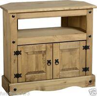 Solid Pine 2 Door Corner Tv Cabinet W85cm X D43cm X H78.5cm Corona