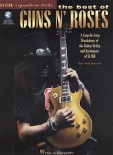 The Best of Guns 'n' Roses Guitar Signature Licks TAB Music Book & Audio