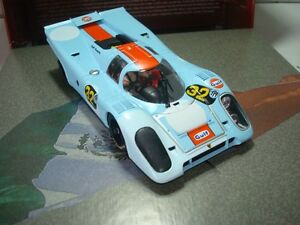 Slot-Car-FLY-99113-PORSCHE-917K-GULF-ARGENTINA-1971-Compatible-1-32-Scalextric