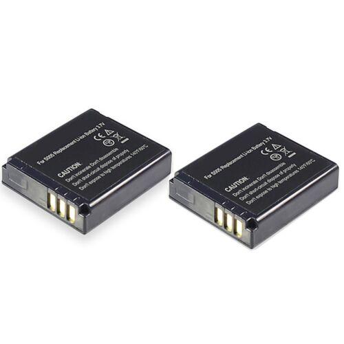 2er set BATERIA para Panasonic Lumix dmc-fx10 fx12 fx50 fx100 fx150 lx1 lx2 lx3 lx9