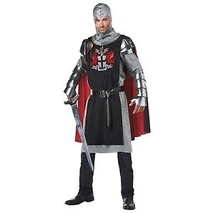 Medieval Knight Warrior King Soldier Prince Fancy Dress Halloween Adult Costume