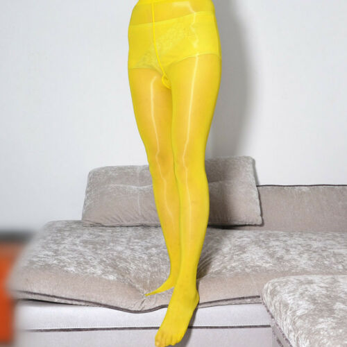 Glanzstrumpfhosen Cleancut Strumpfhose Schritt offen Nylon Dessous Glossy Tights