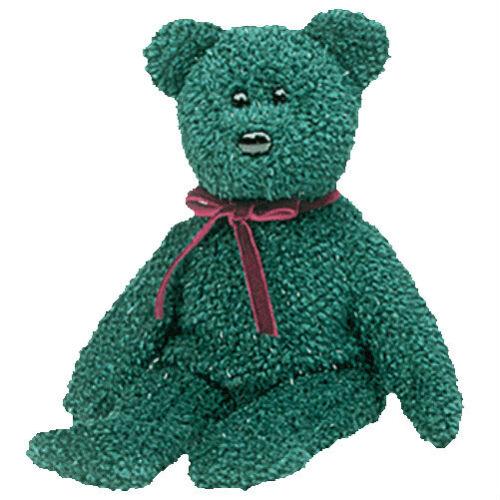 """TY Beanie Baby /""""2001 Holiday Teddy/"""" Green Bear MWMT"""