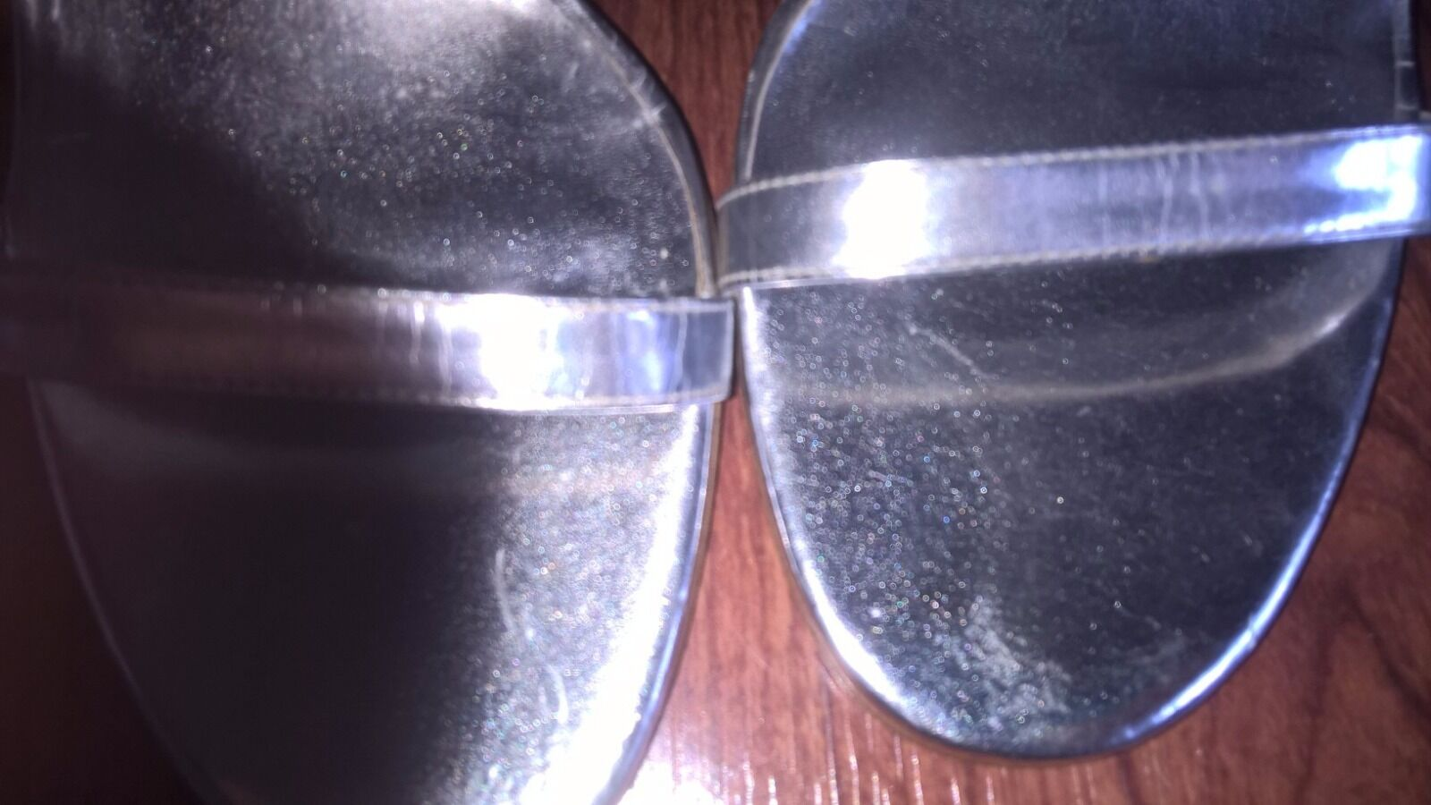 Colin Stuart Victoria's Secret Metallic Silver Stiletto Stiletto Stiletto Heels Sz10 EUC 10e442
