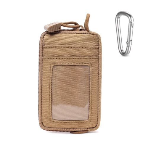 Tactical Key Change Wallet Travel Coin Purse EDC Molle Pouch with Carabiner Clip