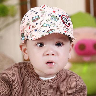 Toddler Girl Boy Cartoon Owl Baseball Snapback Hat Newborn Baby Cap Hip Hop 0-3T