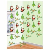 Christmas Hanging Decorations Swirls Snowflake String Ceiling and Door Decor