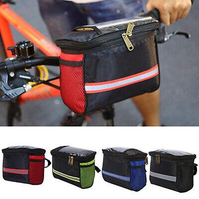 Bicycle Canvas Bike Handlebar Bag Basket Front Waterproof Durable Bag KI