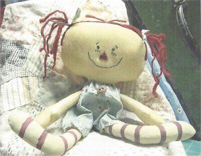 PATTERN Primitive Raggedy Ann Doll Raggedy Annie UNCUT OOP Threadbare Primitives