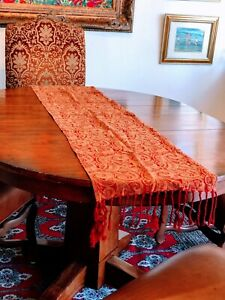 6-PC-RED-PAISLEY-Decor-Tapestry-Table-Runner-Placemat-Place-Mat-Set