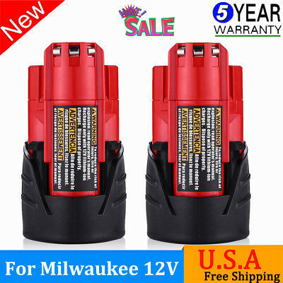 New For Milwaukee 48-11-2420 Battery 12 Volt XC 3.5Ah M12 Lithium Ion Compact