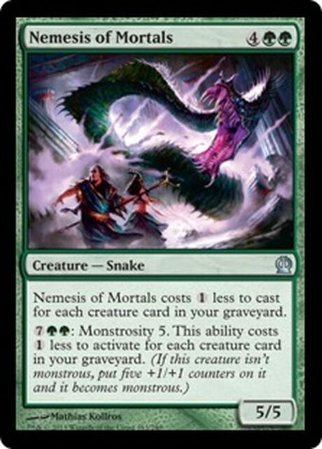 Nemesis of Mortals   NM   x4  Theros MTG Magic Cards Green Uncommon