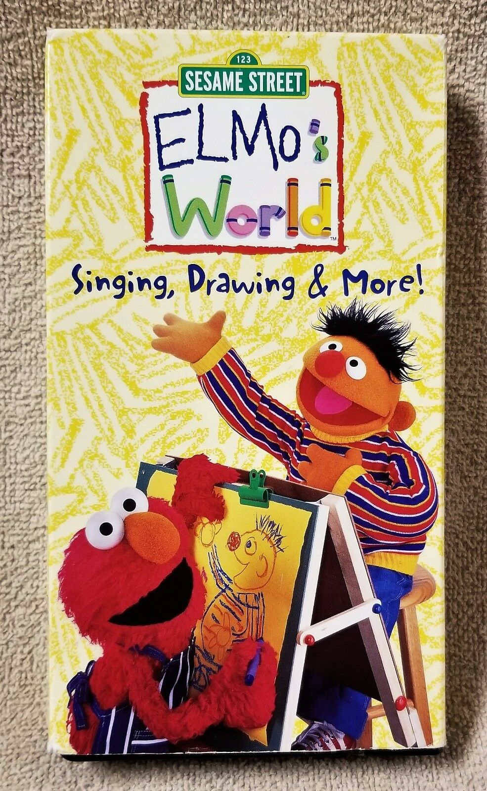 Elmos world singing drawing more vhs 2000 ebay