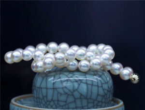 Natural-10MM-Akoya-South-Sea-White-Shell-Pearl-Round-Beads-Necklace-18-034-AAA