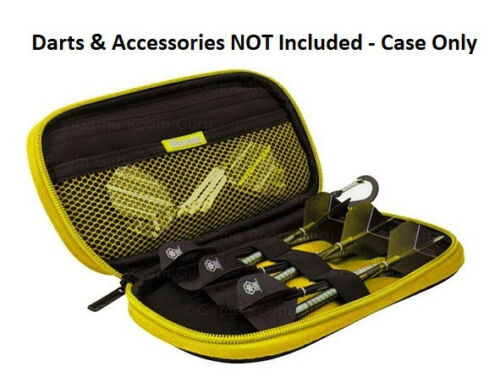 Harrows Z400 Black//Yellow Darts Case Holds 2 Complete Sets Lots of Accessories