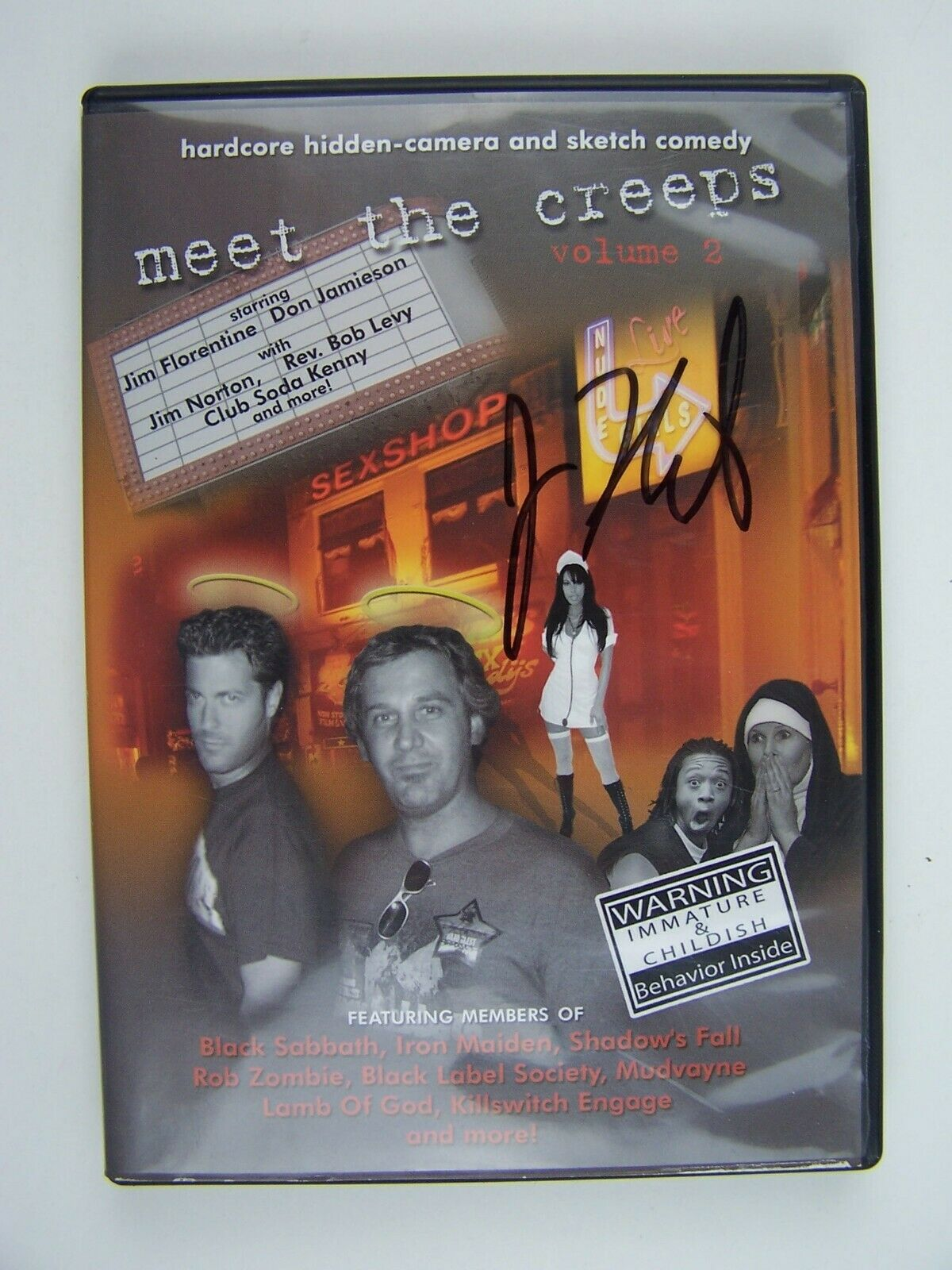 Meet the Creeps Volume 2 DVD Jim Florentine Signed 7649
